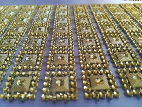Diamantový pás I 10,5cm - zlatý - evkakvety-eshop.eu