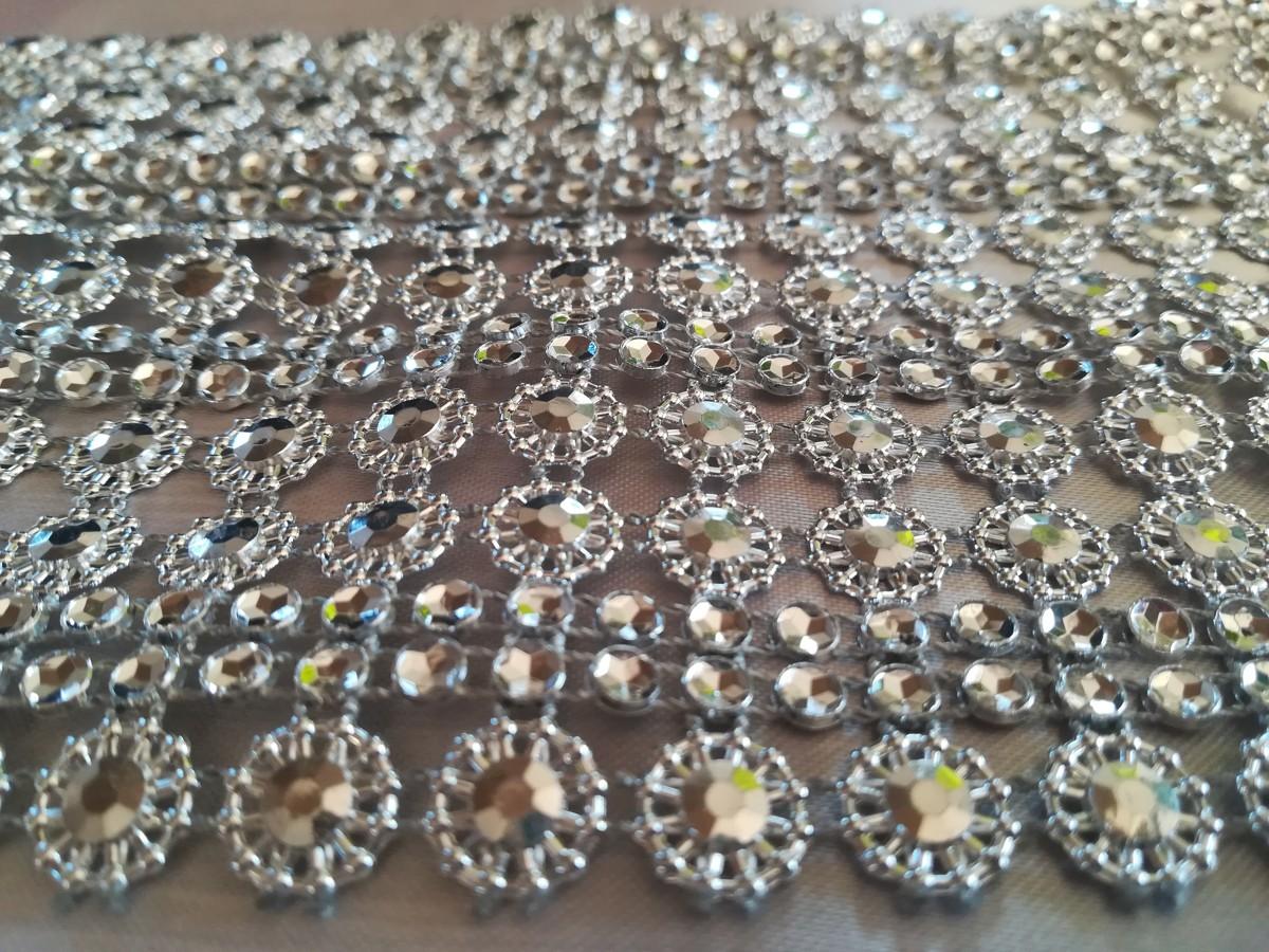 Diamantový pás II 11cm – strieborný – evkakvety-eshop.eu
