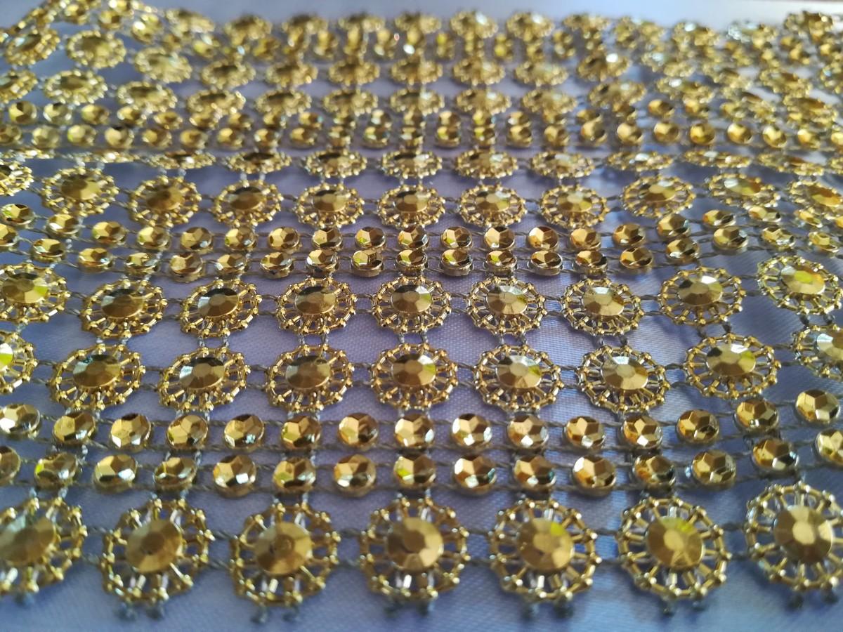 Diamantový pás II 11cm – zlatý – evkakvety-eshop.eu