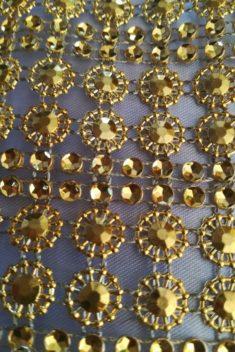 Diamantový pás II 11cm - zlatý - evkakvety-eshop.eu