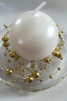 Perlová girlanda - tmavozlatá - Dark Gold- evkakvety-eshop.eu