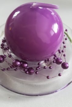 Perlová girlanda tmavofialová - Dark Violet - evkakvety-eshop.eu