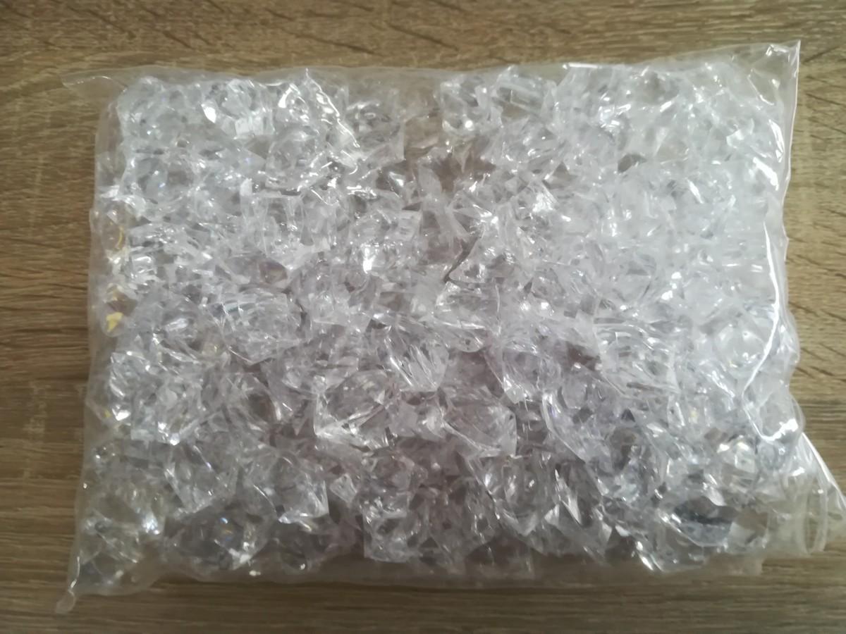 Dekoračný ľad priesvitný 2,3cmx1,8cm – 400g – evkakvety-eshop.eu