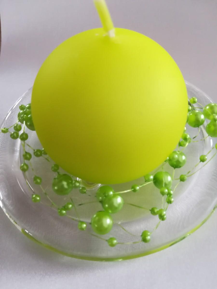 Perlová girlanda - zelená - Green - evkakvety-eshop.eu