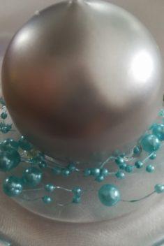 Perlová girlanda - svetlomodrá - Light Blue - evkakvety-eshop.eu