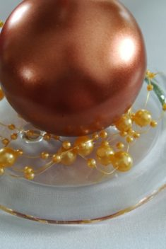 Perlová girlanda - svetlozlatá - Light Gold - evkakvety-eshop.eu