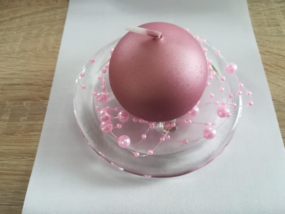 Perlová girlanda - svetloružová - Light Pink - evkakvety-eshop.eu