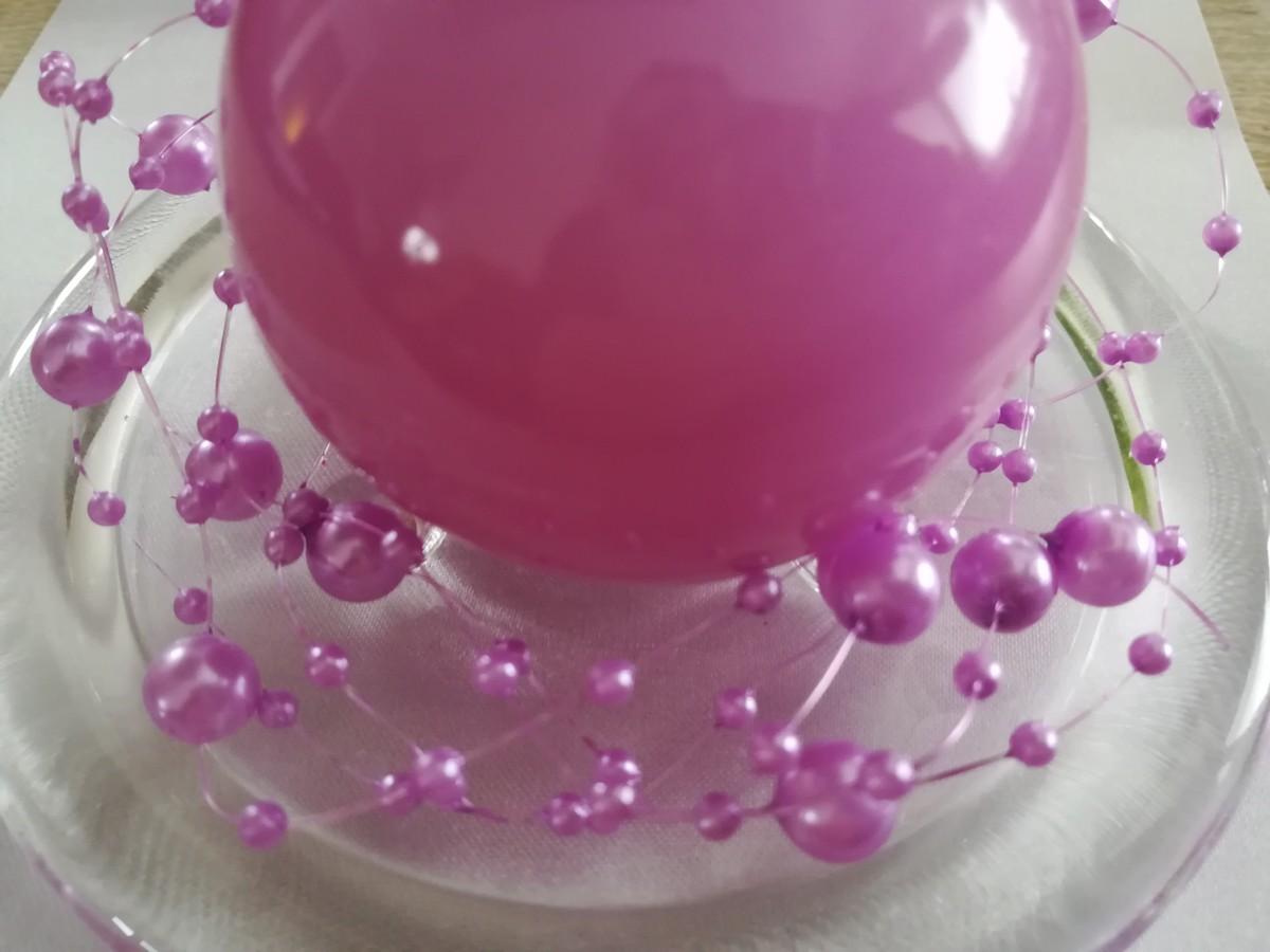 Perlová girlanda - svetlofialová - Light Violet - evkakvety-eshop.eu