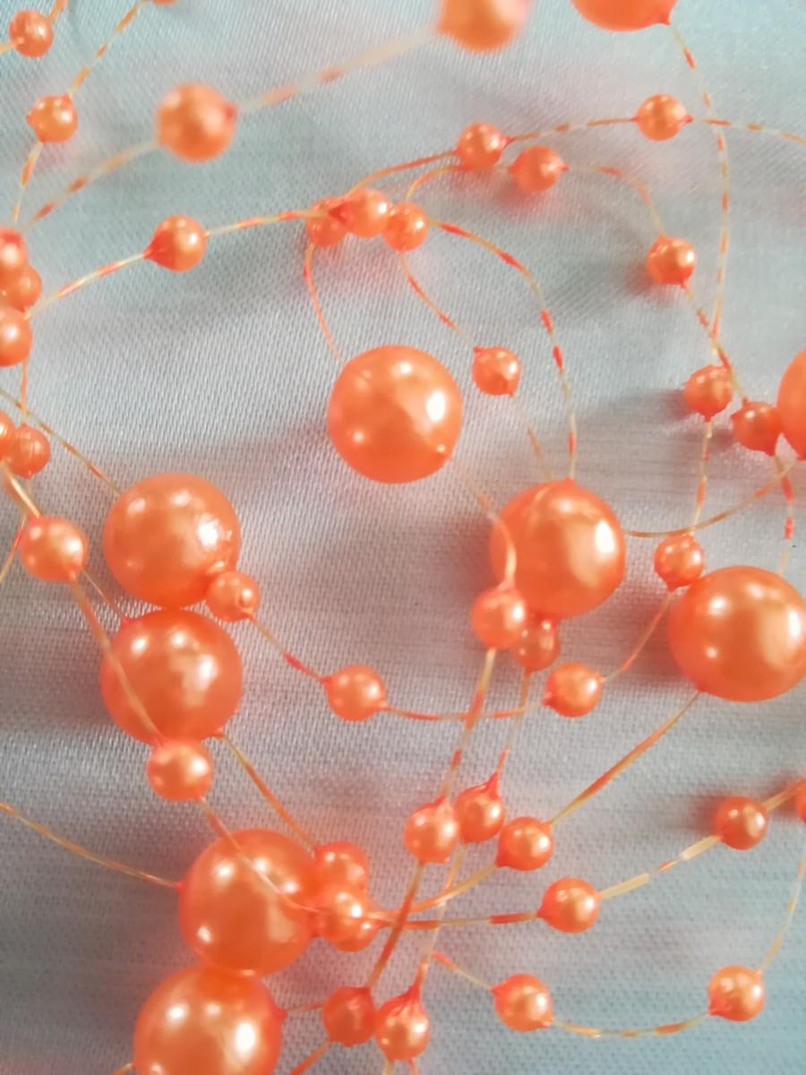 Perlová girlanda - oranžová - Orange - evkakvety-eshop.eu