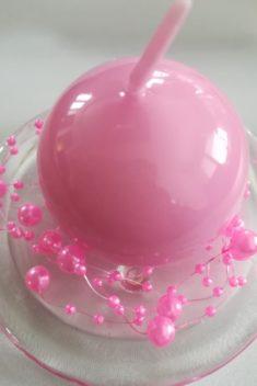 Perlová girlanda - ružová - Pink - evkakvety-eshop.eu
