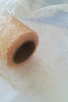 Pavučinová organza krémová - Cream - evkakvety-eshop.eu
