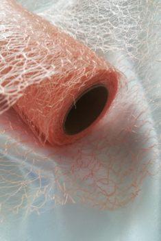 Pavučinová organza lososová - Salmon