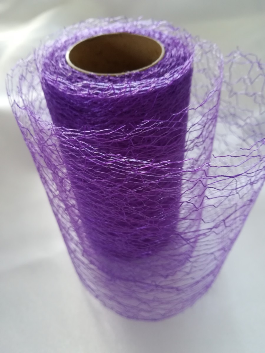 Pavučinová organza fialová – Violet – evkakvety-eshop.eu