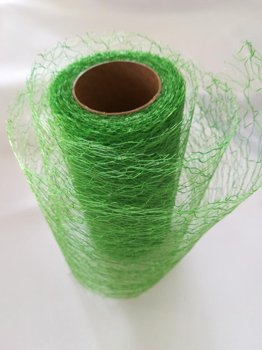 Pavučinová organza zelená – Green – evkakvety-eshop.eu