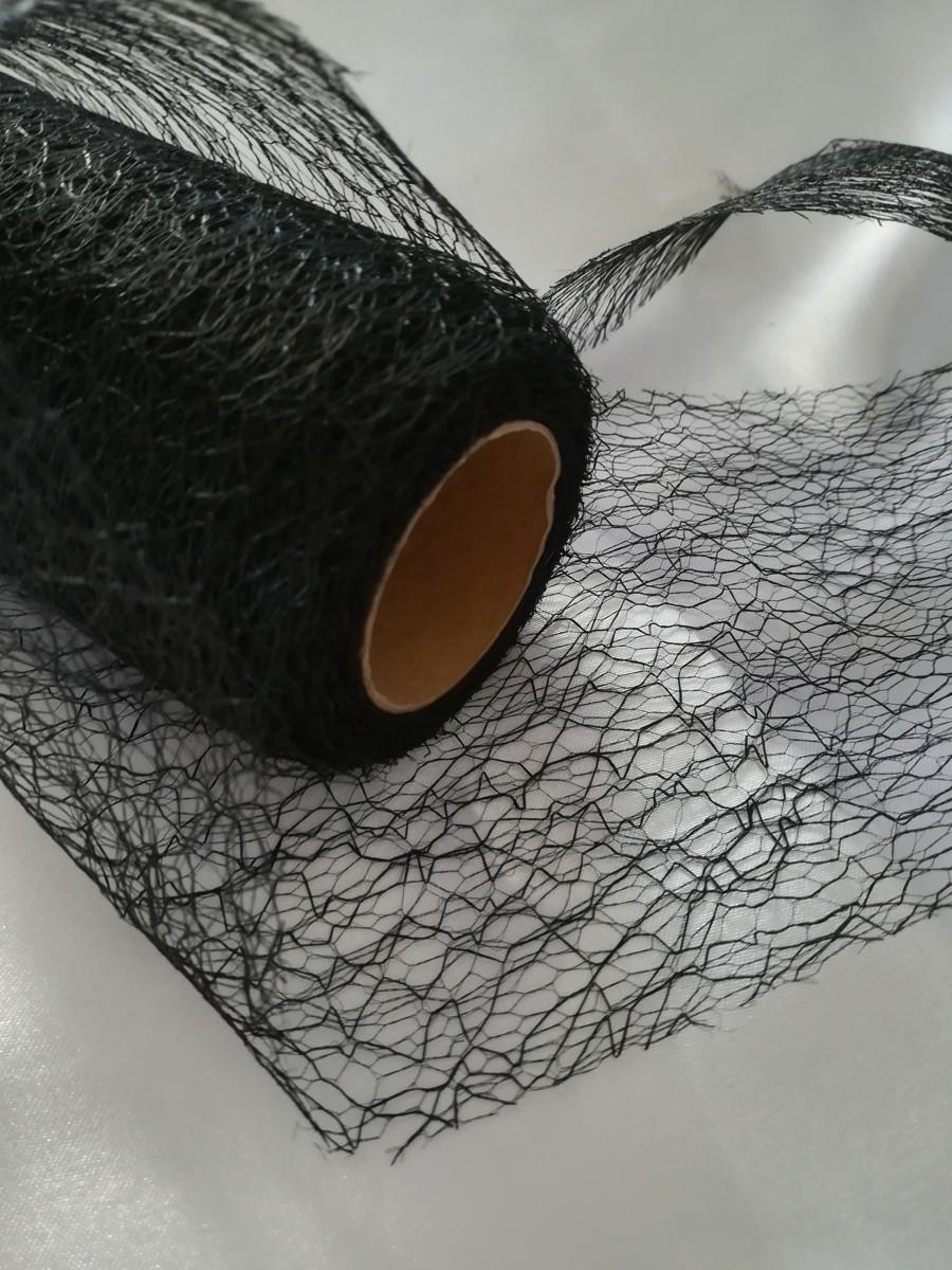 Pavučinová organza čierna - Black - evkakvety-eshop.eu