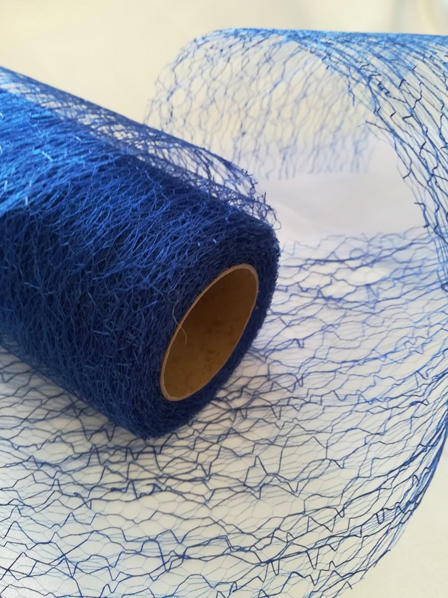 Pavučinová organza kráľovská modrá - Dazzling Blue - evkakvety-eshop.eu