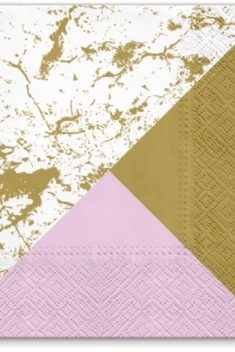 Servítky s mramorovým zlatým vzorom , 20ks - evkakvety-eshop.eu