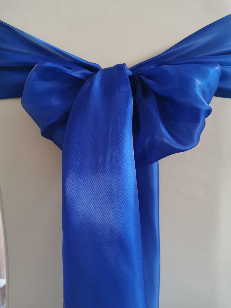 Saténová organza kráľovská modrá – Royal Blue širky 23cm – evkakvety-eshop.eu