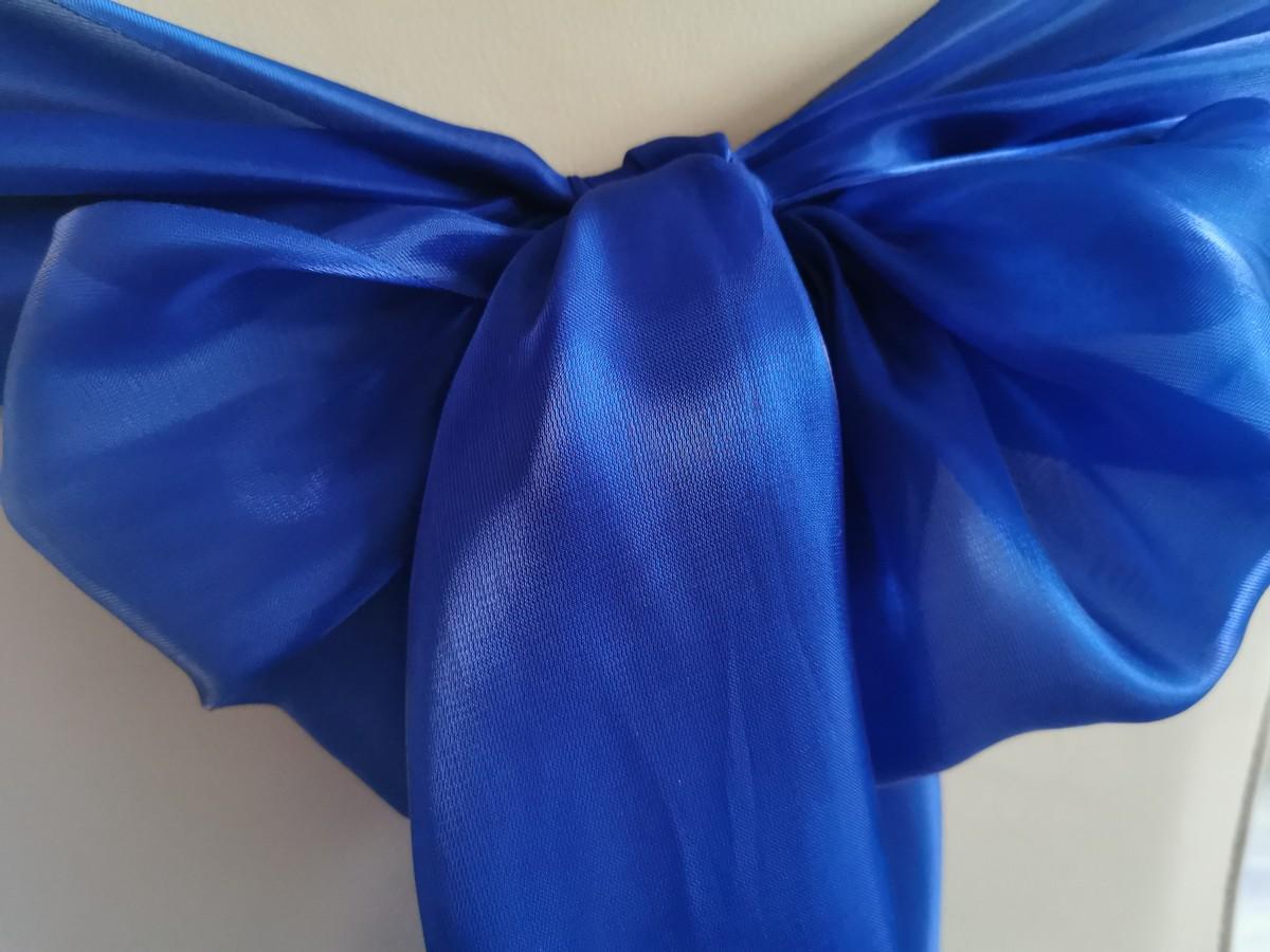 Saténová organza kráľovská modrá - Royal Blue širky 23cm - evkakvety-eshop.eu