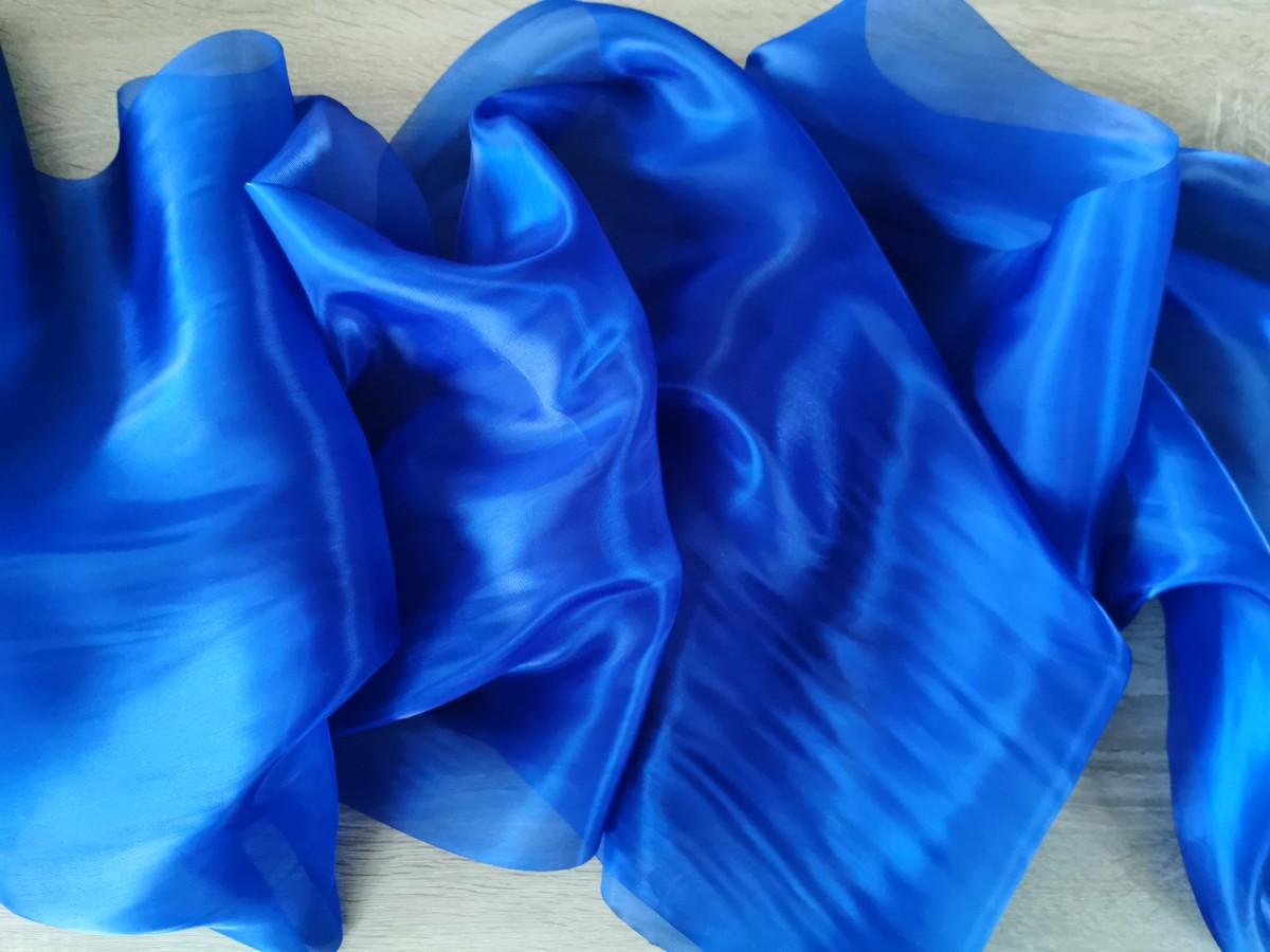 Saténová organza kráľovská modrá – Royal Blue širky 47cm – evkakvety-eshop.eu
