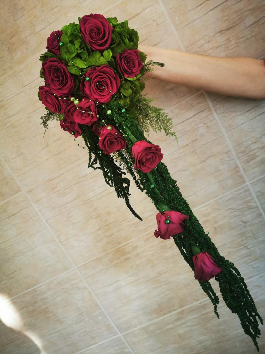 Kytica z konzervovaných kvetov