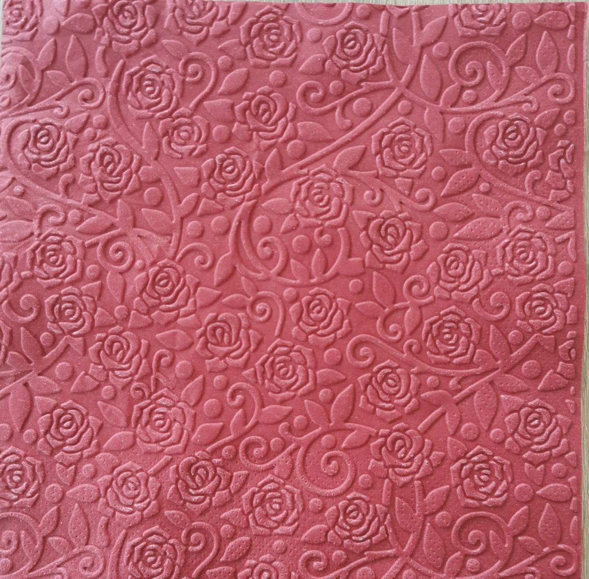 Reliéfne servítky bordové – Claret 33x33cm – evkakvety-eshop.eu