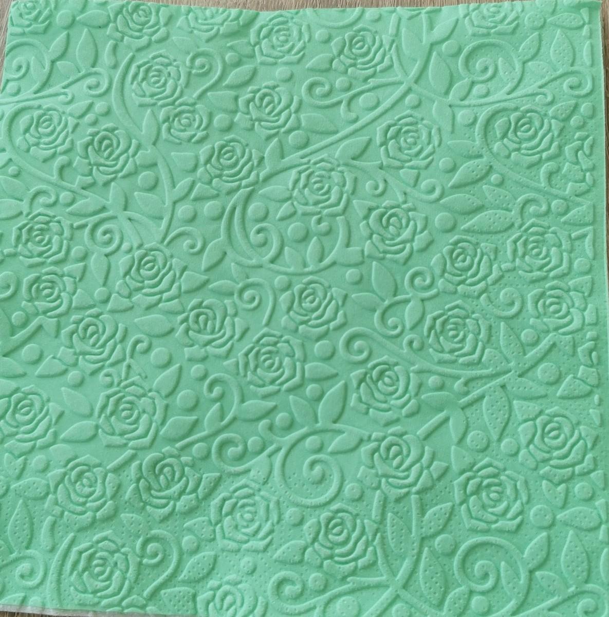 Reliéfne servítky mentolovozelené – Mint 33x33cm – evkakvety-eshop.eu