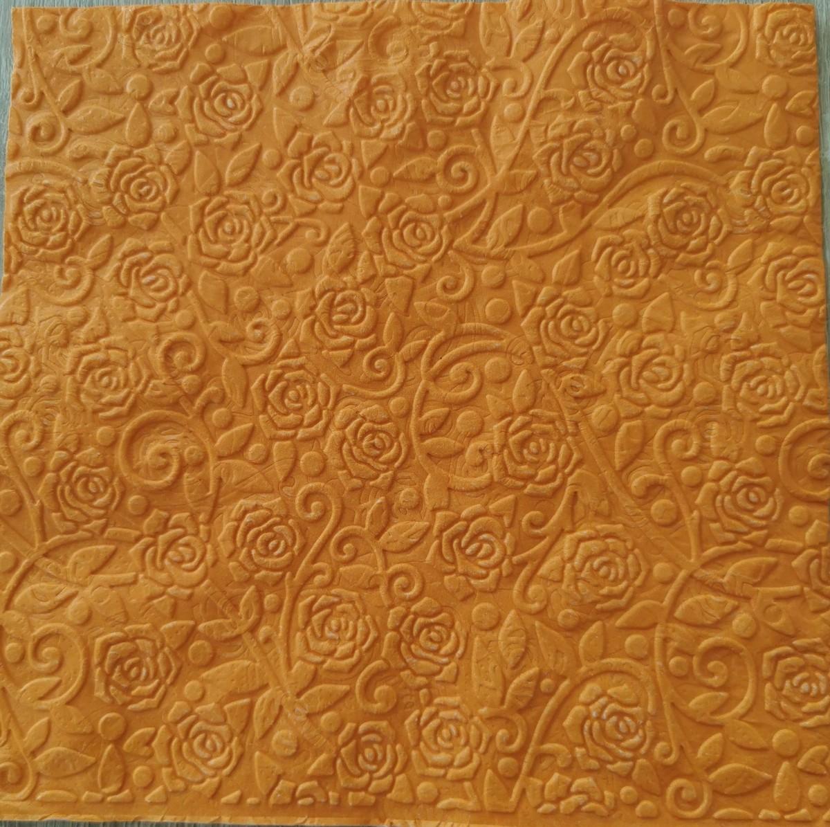 Reliéfne servítky oranžové – Orange 33x33cm – evkakvety-eshop.eu