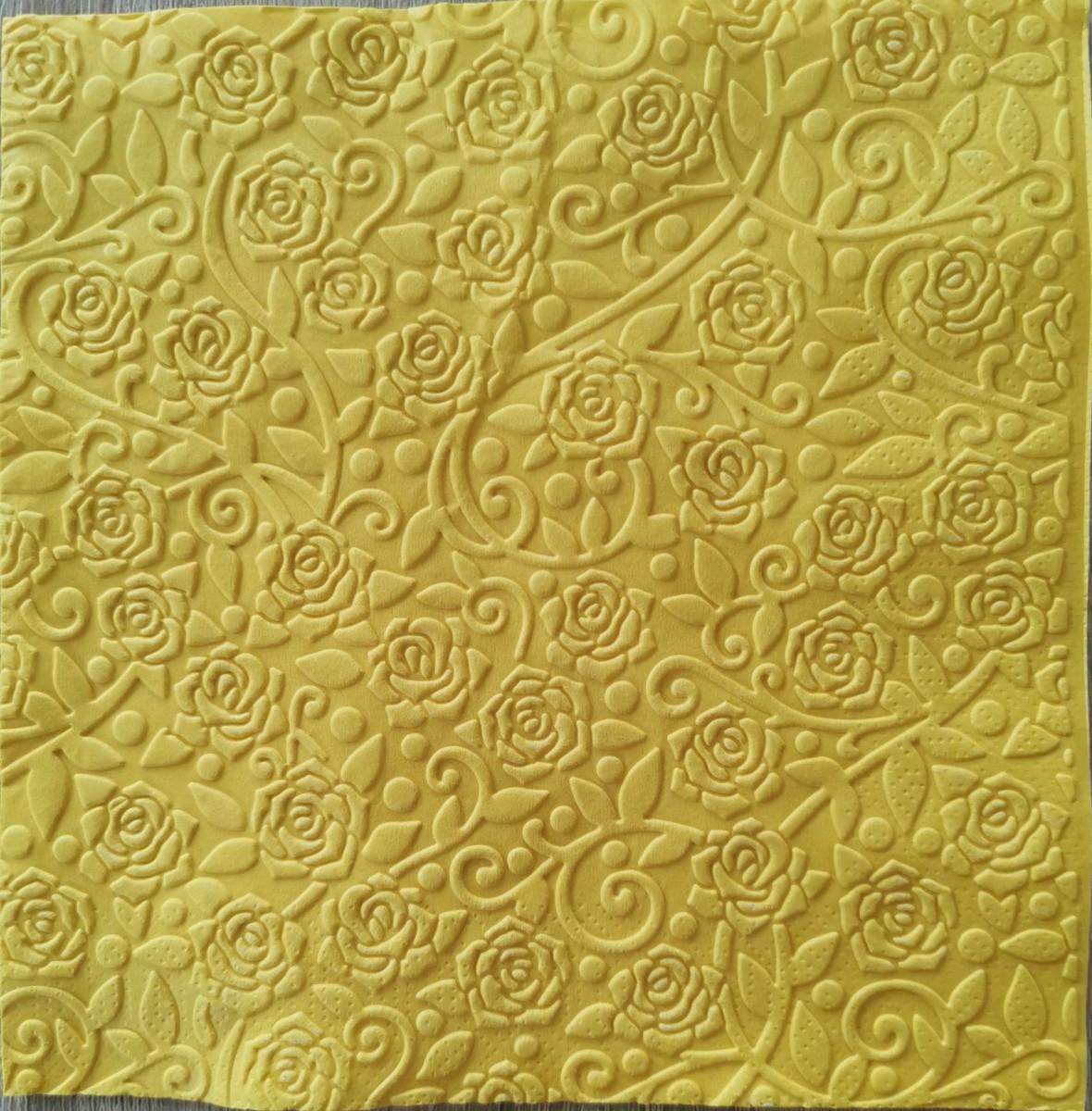 Reliéfne servítky slnečnicovožlté – Sunflower Yellow 33x33cm – evkakvety-eshop.eu