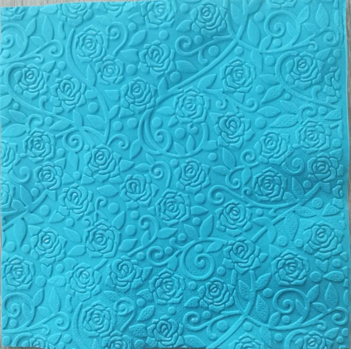 Reliéfne servítky svetlomodré – Light Blue 33x33cm – evkakvety-eshop.eu