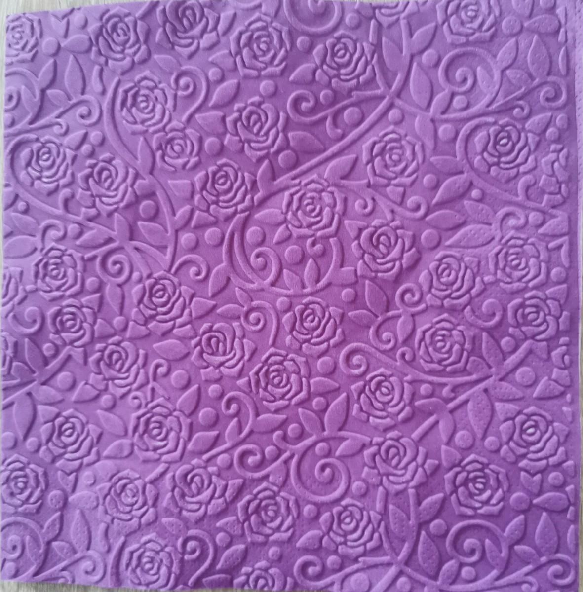 Reliéfne servítky tmavofialové – Dark Violet 33x33cm – evkakvety-eshop.eu