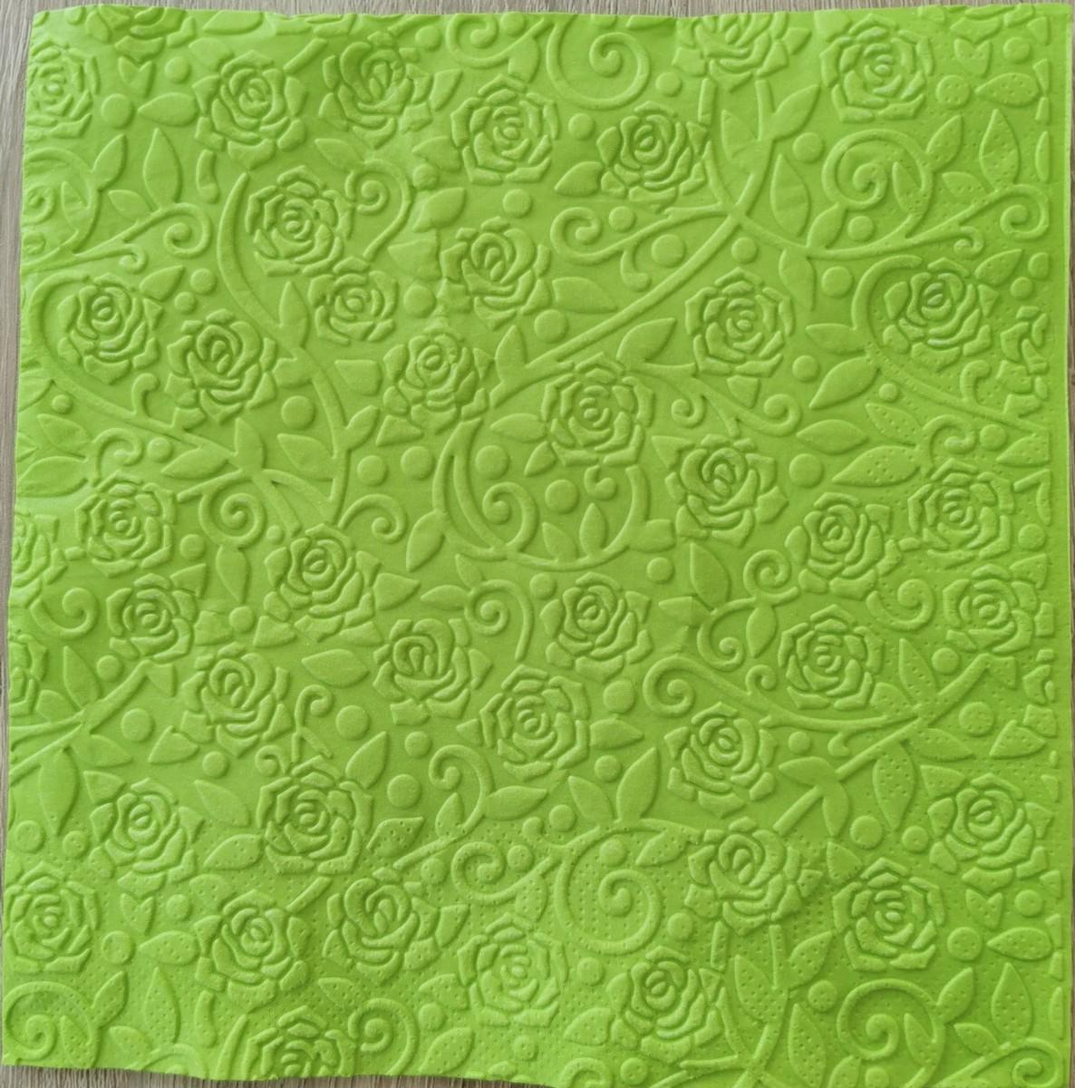 Reliéfne servítky trávovozelené – Grass Green 33x33cm – evkakvety-eshop.eu