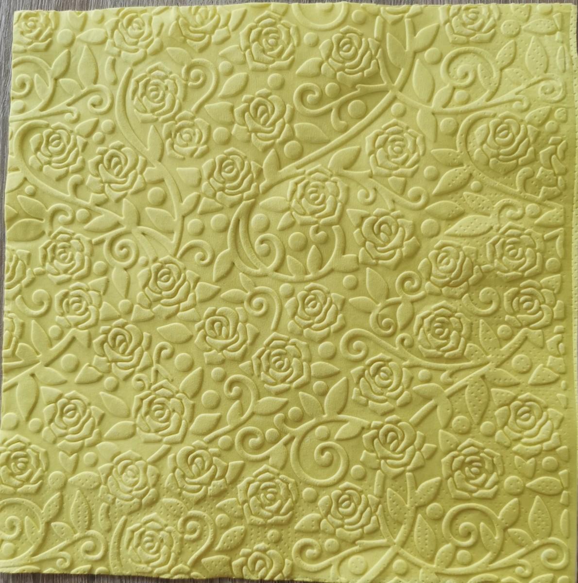 Reliéfne servítky žlté – Yellow 33x33cm – evkakvety-eshop.eu