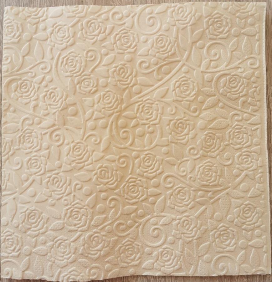 Reliéfne servítky krémové – Cream 33x33cm – evkakvety-eshop.eu