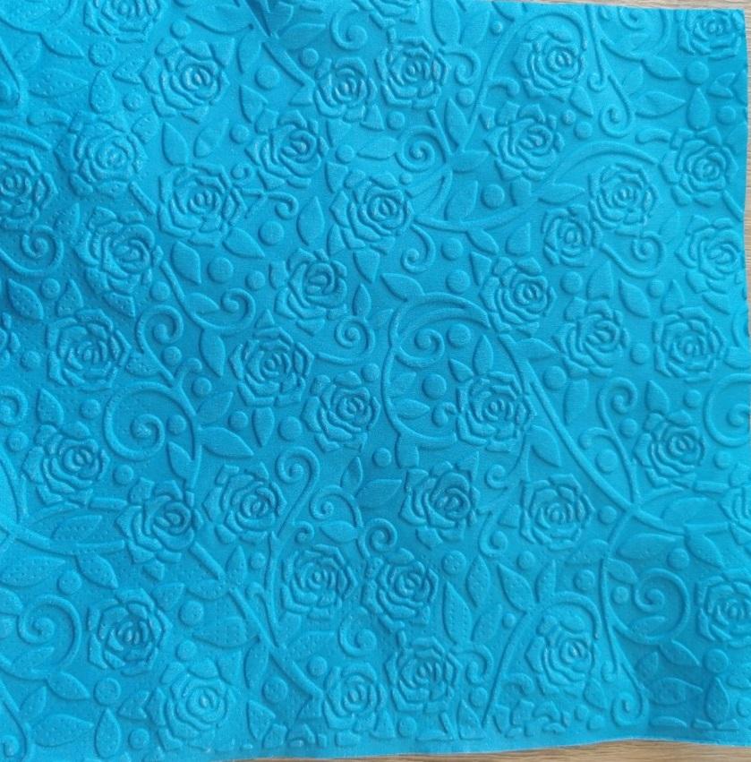 Reliéfne servítky tyrkysové – Blue 33x33cm – evkakvety-eshop.eu