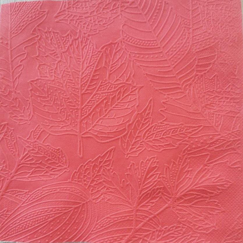 Reliéfne servítky červené – Red 33x33cm – evkakvety-eshop.eu