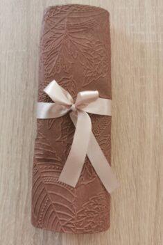 Reliéfne servítky čokoladovohnedé - Milk Chocolate 33x33cm - evkakvety-eshop.eu