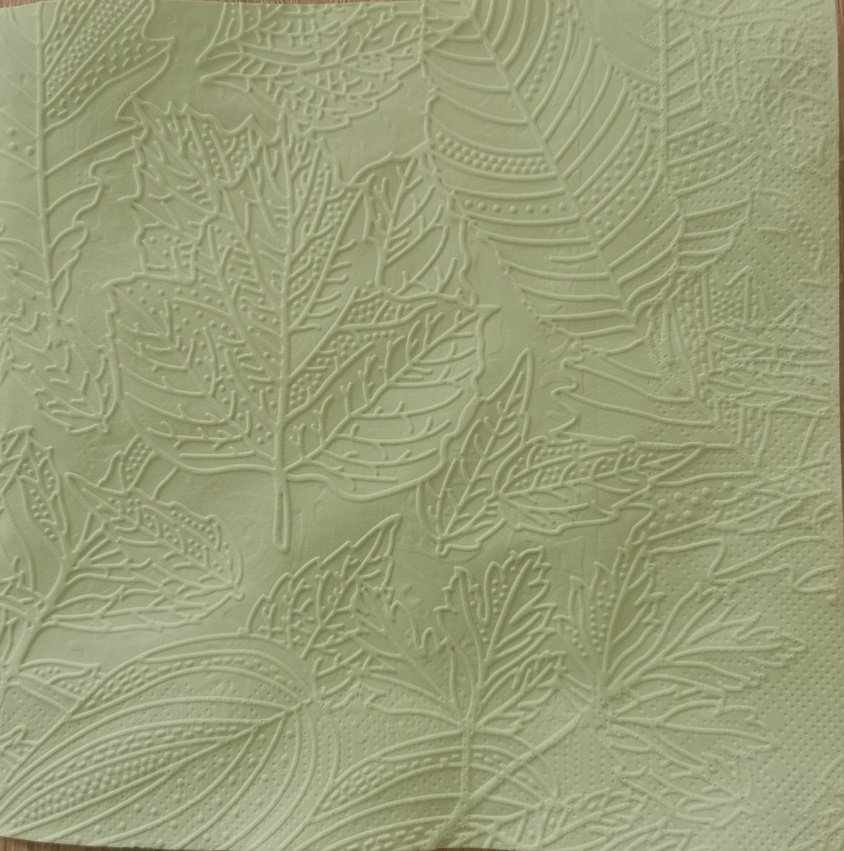 Reliéfne servítky svetlozelené – Pale Green 33x33cm – evkakvety-eshop.eu