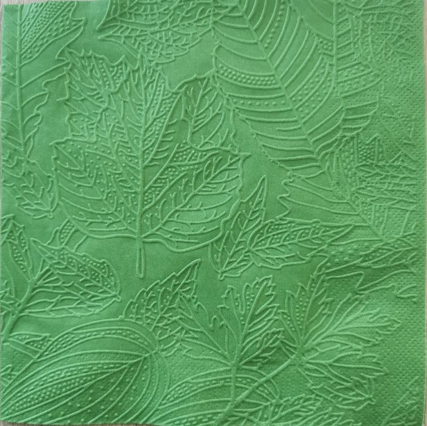 Reliéfne servítky tmavozelené – Dark Green 33x33cm – evkakvety-eshop.eu