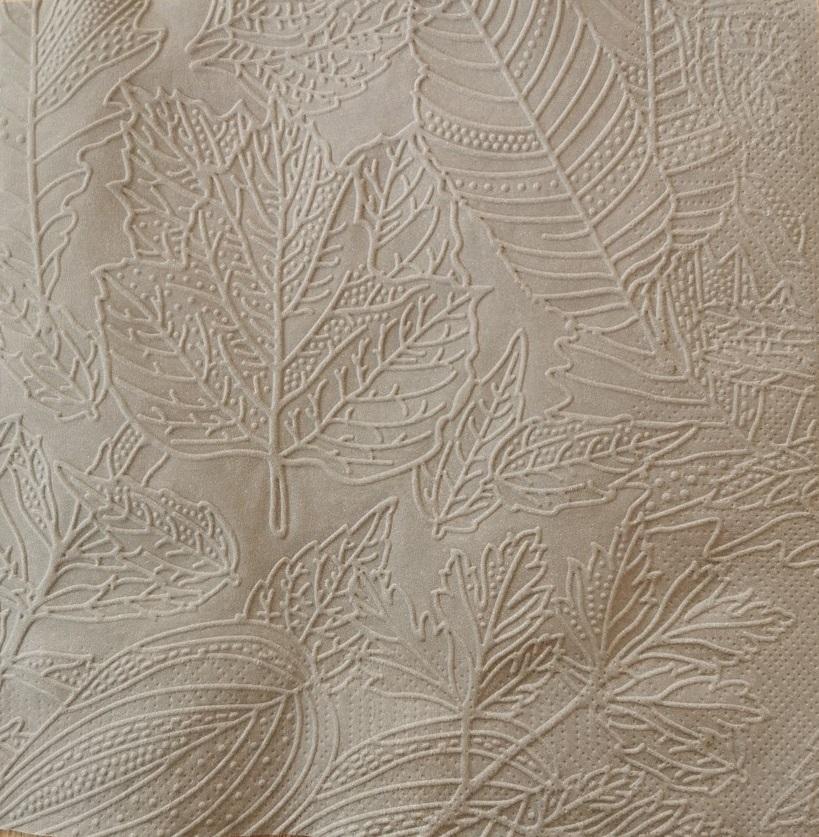 Reliéfne servítky sivé – Grey 33x33cm – evkakvety-eshop.eu