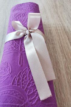 Reliéfne servítky tmavofialové - Dark Violet 33x33cm - evkakvety-eshop.eu
