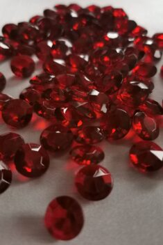 Dekoračné diamanty bordové 12mm - evkakvety-eshop.eu