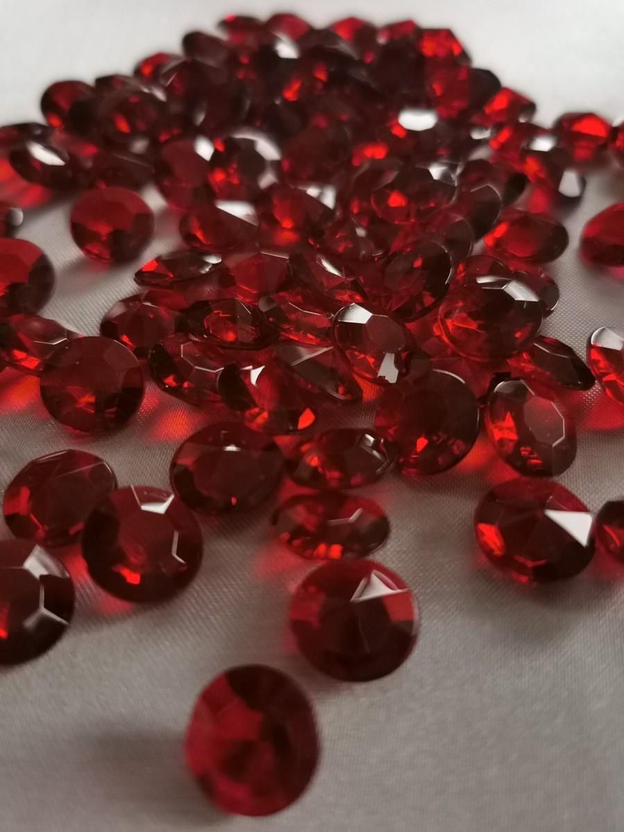 Dekoračné diamanty bordové 12mm – evkakvety-eshop.eu