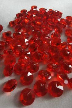 Dekoračné diamanty červené 12mm - evkakvety-eshop.eu