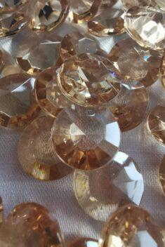 Dekoračné diamanty kapučínové 12mm - evkakvety-eshop.eu