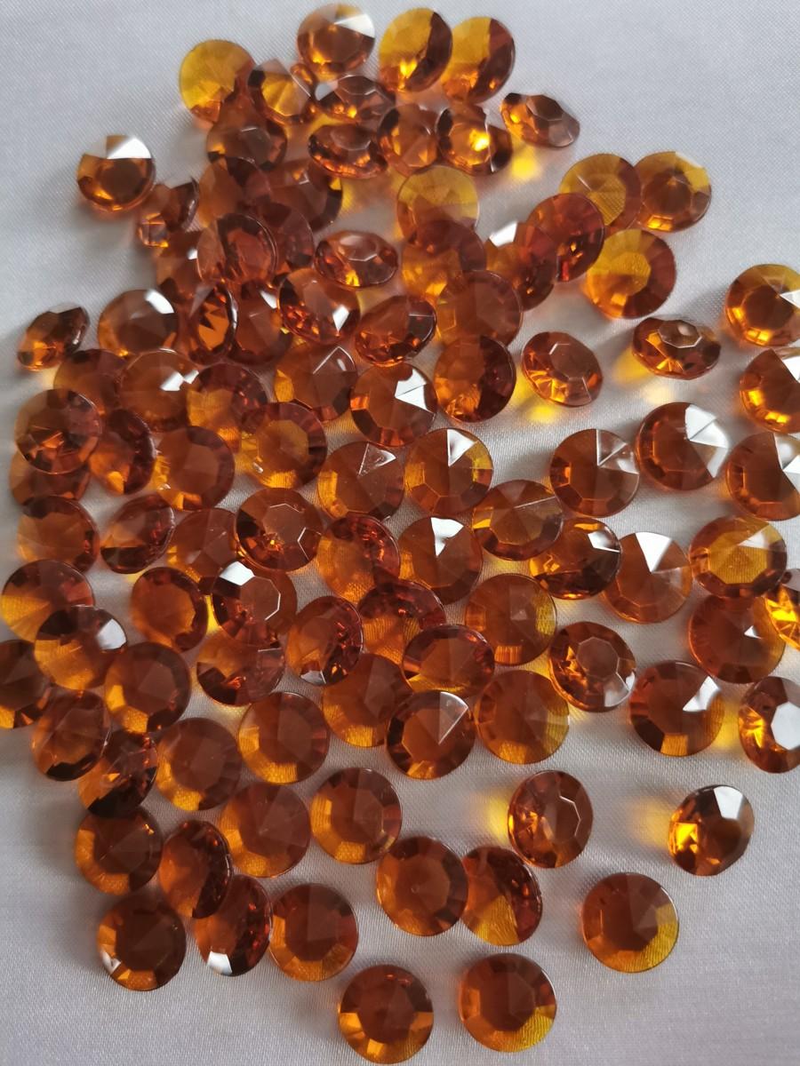 Dekoračné diamanty karamelové 12mm - evkakvety-eshop.eu