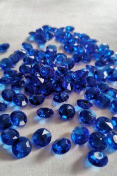 Dekoračné diamanty kráľovské modré 12mm - evkakvety-eshop.eu