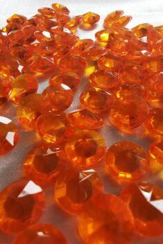 Dekoračné diamanty oranžové 12mm - evkakvety-eshop.eu