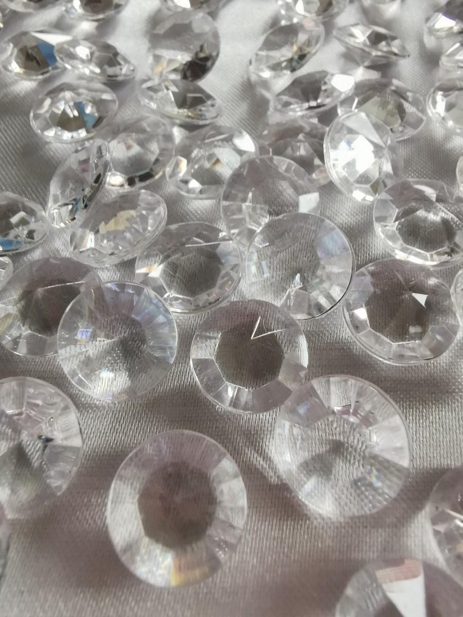 Dekoračné diamanty priehľadné 12mm - evkakvety-eshop.eu