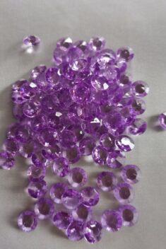 Dekoračné diamanty svetlofialové 12mm - evkakvety-eshop.eu